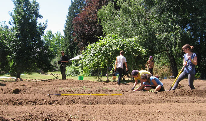 JCSS crew hitting the dirt at Woody Farm, 2013